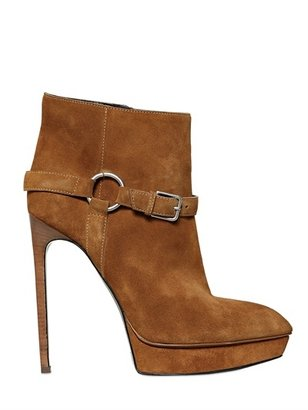Saint Laurent 130mm Janis Suede Pointy Boots