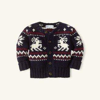 Cotton-Wool Reindeer Cardigan