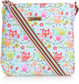 SWANKYSWANS Girls Millie Winking Owl Crossbody Bag BL Wallet K383-L Blue