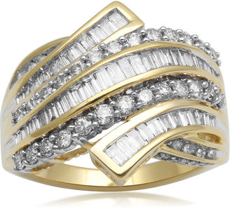 FINE JEWELRY 1 CT. T.W. Diamond 10K Yellow Gold Bypass Cocktail Ring $2,083 thestylecure.com