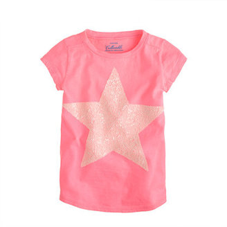 J.Crew Girls' tee with giant sequin star