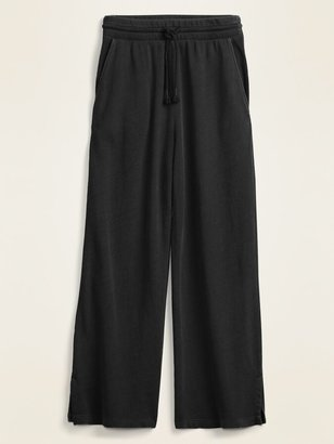 Old Navy High-Waisted French Terry Cropped Wide-Leg Sweatpants for Women