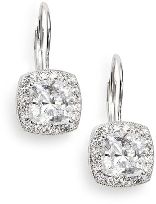 Adriana Orsini Crystal Pave Cushion Drop Earrings