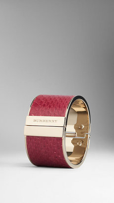 Burberry Textured Snakeskin Cuff