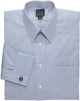 Oxford Pinpoint Point Collar French Cuff Dress Shirt Big or Tall