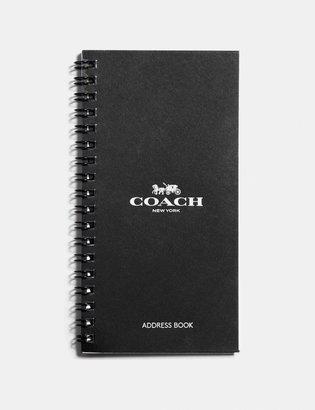 Coach 4X7 Spiral Address Book Refill