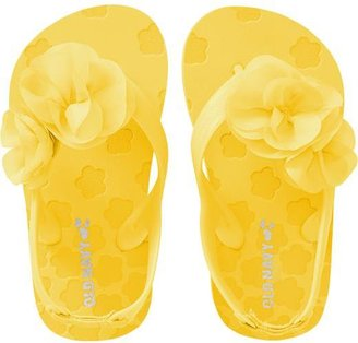 Old Navy Rosette-Applique Flip Flops for Baby