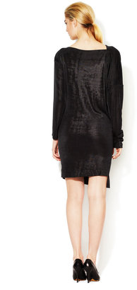 Vivienne Westwood Anglomania Metallic Jersey Draped Dress