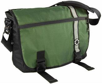 Dad Gear Messenger Diaper Bag - Green Retro Stripe