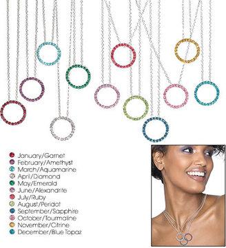 Avon Birthstone Crystal Circle Necklace