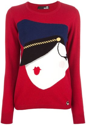 Love Moschino woven jumper