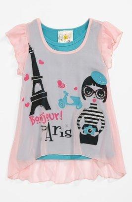 Jenna & Jessie 'Paris' Top (Little Girls)