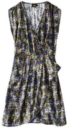 Mossimo Women's Short Sleeve Wrap Dress - Assorted Prints