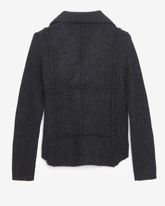 Rag and Bone Rag & Bone Exclusive Knit Moto Jacket: Charcoal