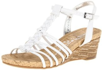 Kenneth Cole Reaction Swirl Up Wedge Sandal (Little Kid/Big Kid),White,4 M US Big Kid