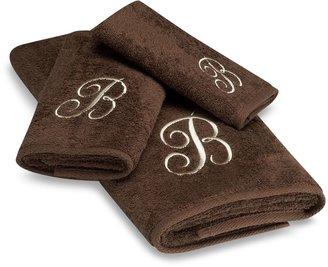 Avanti Premier Ivory Script Monogram Bath Towel Collection in Mocha