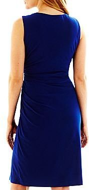 JCPenney Slit-Front Solid Sheath Dress
