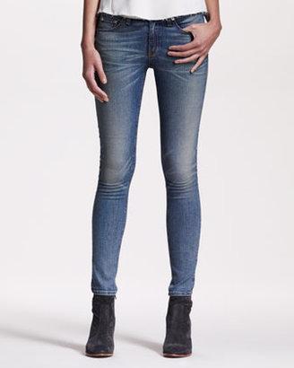 Rag and Bone Distressed Skinny Monument Jeans