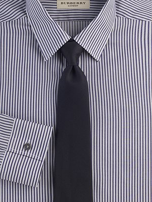 Burberry Textured Stripe Dress Shirt