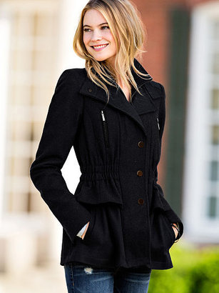 Victoria's Secret Single Breasted Snap Front Wool Coat
