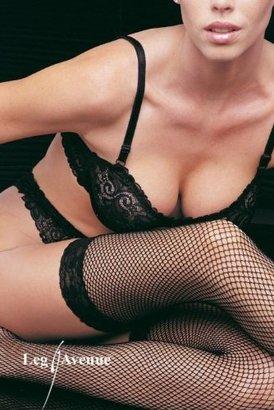 Leg Avenue Women's Lace Top Fishnet ...