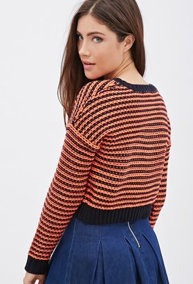 Forever 21 Striped Cropped Sweater