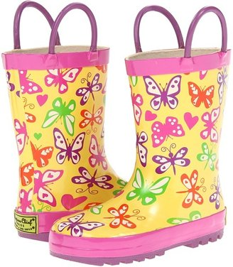 Western Chief Floating Away Rain Boot (Toddler/Youth) (Yellow) - Footwear