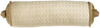 "Austin Horn Collection Antoinette Diamond-Stitch Neck Roll Pillow, 6"" x 19"""
