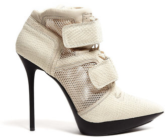 DKNY Newspaper Pulse Mesh And Snake High Top Platforms
