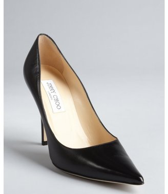 Jimmy Choo black leather 'Abel' pointed toe pumps