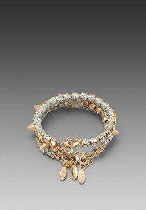 Ettika Gold Spike and Rhinestone Wrap