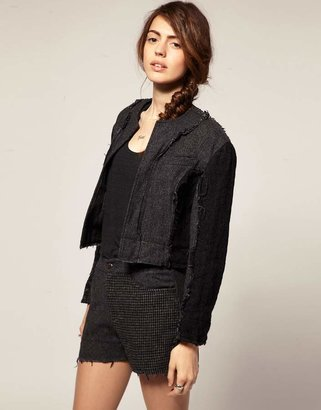 Asos Blaak For Patch Wool Cop jacket