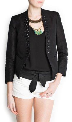 MANGO Faceted embellishment jacket