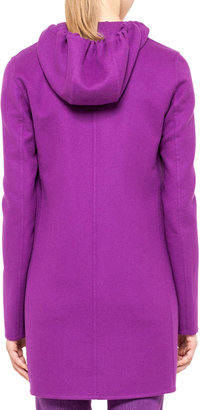 Akris Wool Coat with Detachable Hood