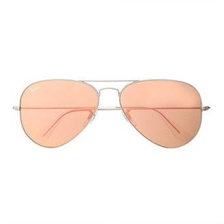 Ray-Ban original aviator sunglasses with flash mirror lenses