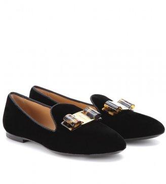 Salvatore Ferragamo Scotty velvet slipper-style loafers