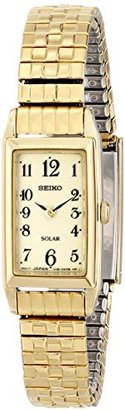 Seiko Women's SUP244 Stainless Steel Solar Watch with Expansion Band $78 thestylecure.com