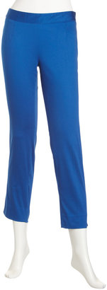 Laundry by Shelli Segal Side-Zip Slim Pants, Tide Pool