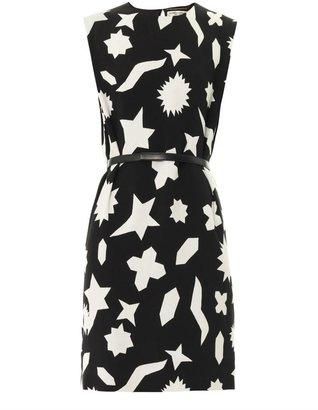 Saint Laurent Graphic-print shift dress