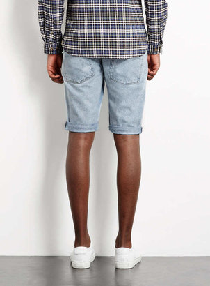 Topman Blue Denim Shorts