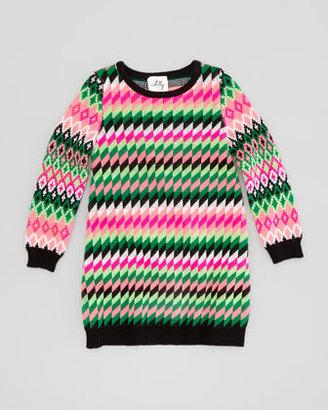 Milly Minis Fair Isle Knit Dress, Sizes 8-10