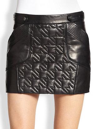 Rebecca Minkoff Titan Leather Mini Skirt