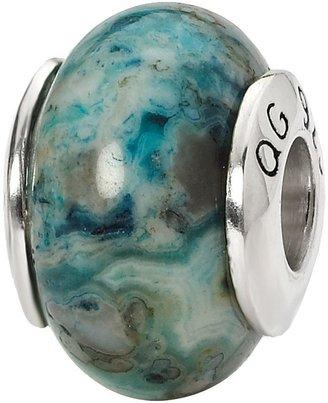 Prerogatives Sterling Blue Lace Agate GemstoneBead