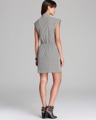 Aqua Dress - Lattice Cross Front