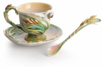 Swan Lake Cup & Saucer with Spoon