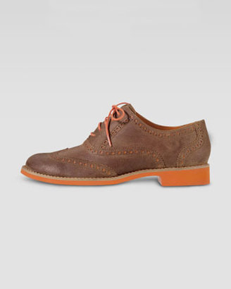 Cole Haan Alisa Two-Tone Oxford, Tan/Orange