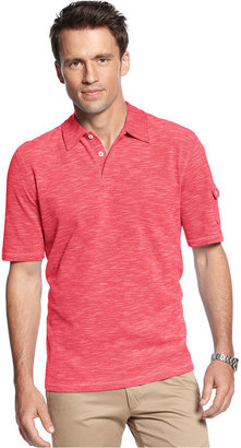 Geoffrey Beene Shirt, Space Dye Pique Polo Shirt