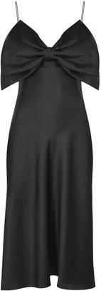 Anna October Gala Bow-embellished Satin Midi Dress
