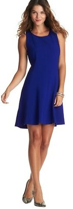 LOFT Petite Sleeveless Flare Skirt Dress in Mid Weight Scuba