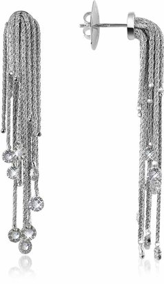 Orlando Orlandini Flirt - Diamond Drops 18K White Gold Earrings